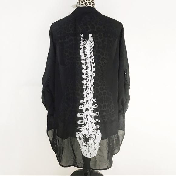 Iron Fist Tops - NWT Iron Fist Skeleton Spineless Chiffon Blouse